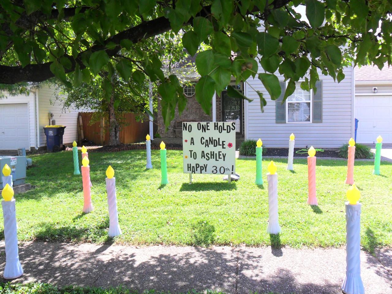 Candle Birthday Lawn Display